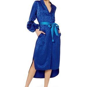 Hellessy blue floral dress wrap NWT 2